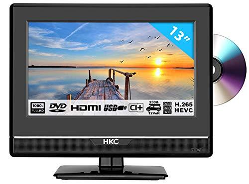 HKC 13M4C: Televisor LED de 33,8 cm (13 Pulgadas) con Reproductor de DVD (Full...