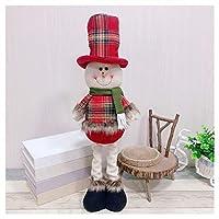 クリスマスリトラクタブル人形、クリスマスエルクベッドルーム漫画枕、ホリデーギフト、57×13.5センチメートル (Color : Christmas Snowman)