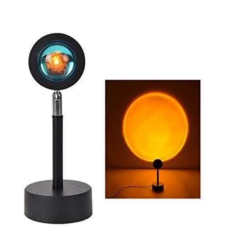 Botón Usb Arco Iris Proyector De Puesta De Sol Atmósfera Luz De Noche Led Fondo De Pared Decoración Del Hogar Lámpara Colorida (Puesta de sol)