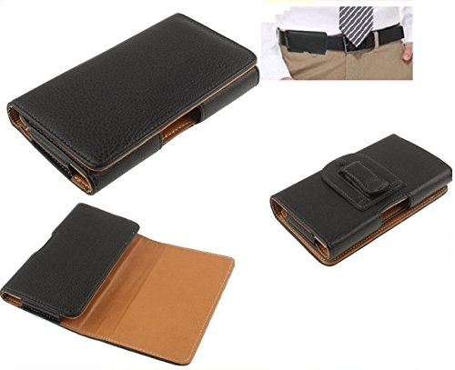 DFV mobile - Custodia Elegante in Eco Pelle con Clip Cintura e Passante di Sicurezza per > doogee dg700 / doogee titans2, colore Nero