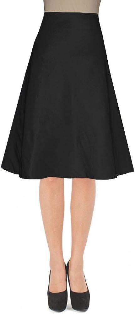 E K Women's knee length taffeta skirt Short evening formal prom skirt