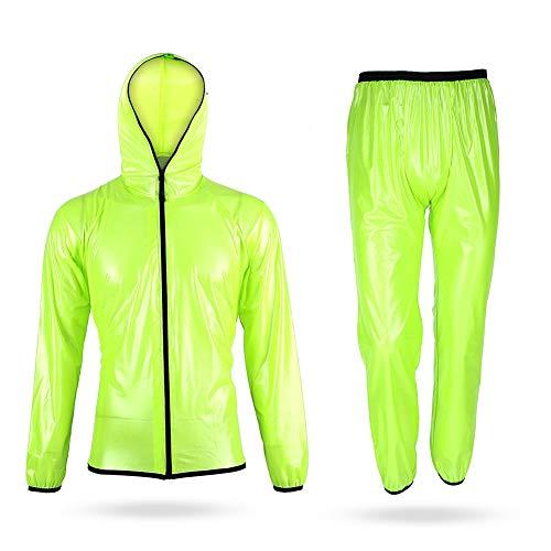 V GEBY Impermeable de Ciclismo Impermeable Impermeable Trajes de Ropa Impermeable Pantalones...