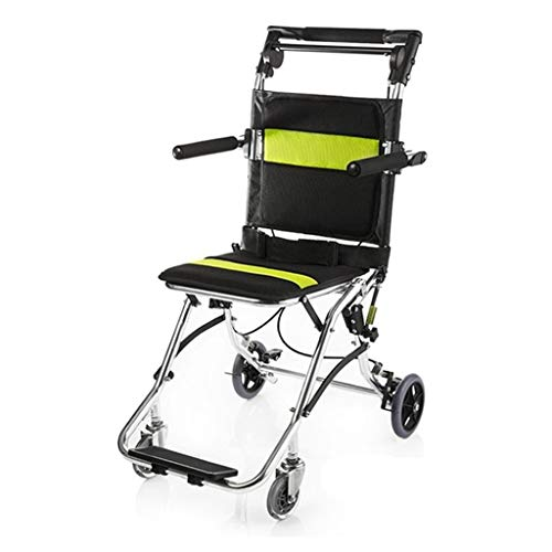 LYRWISHJB Self Propelled Foldable Wheelchairs Potable Folding Travelling Wheelchair,Ultra Lightweight Transport Wheelchair For The Elderly And Children Emovable Footrests, Armrest safety