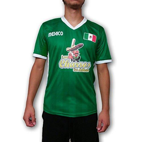Los Charros de Jalisco Mexico Men's Baseball Jersey Hecho en Mexico (M)