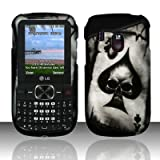 ACE SPADE SKULL Hard Plastic Design Matte Case for LG 500g (TracFone) + Car Charger [In Twisted Tech Retail Packaging]