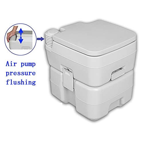 PYXZQW Tragbare Toilette Kompakte Indoor Outdoor Commode Reisetasche für Camping, Wohnmobil, Boot Mehr für einfache Reinigung