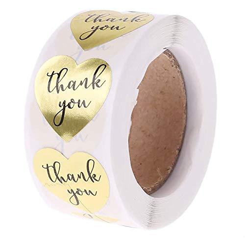 POFET 500 etichette in carta kraft fatte a mano con amore rotondo adesivo da forno autoadesivo decorazione per feste, matrimoni o regali di compleanno
