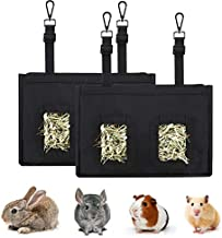 Guinea Pig Hay Bag, 2pcs/Set Buuny Hay Feeder,Hay Feeder for Bunny Guinea Pig Chinchilla Hamsters Small Animals,Pet Supplies Feeder Storage Bag,Cage Accessories