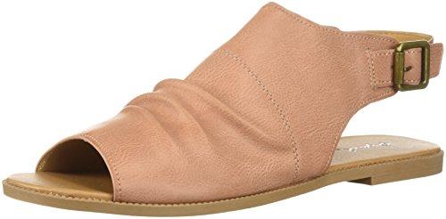 Qupid Women's Mule Flat Sandal, Dusty Blush, 10 M US