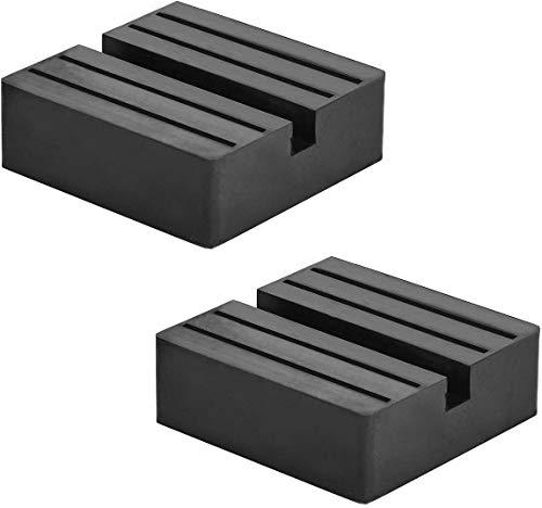 ジャッキパッド ジャッキスタンド用 2個入り 被せる タイプ ゴム製ラバークッション ジャッキアップ用アダプター 汎用式