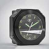 Aleación de Aluminio Universal 3Color 7 / 8Inch 1inch Motorcycle Moderbar Modern Mount Reloj de Reloj CNC Accesorio de Motocicleta cromada Accesorios para Moto (Color : Black)
