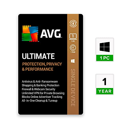 AVG Ultimate (Premium Total Security) (1 PC   1 Year) (Email Delivery in 2 hours- No CD)