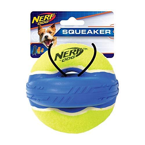 Nerf Dog 4.5in Max Court Elite Squeak Xring Green/Blue