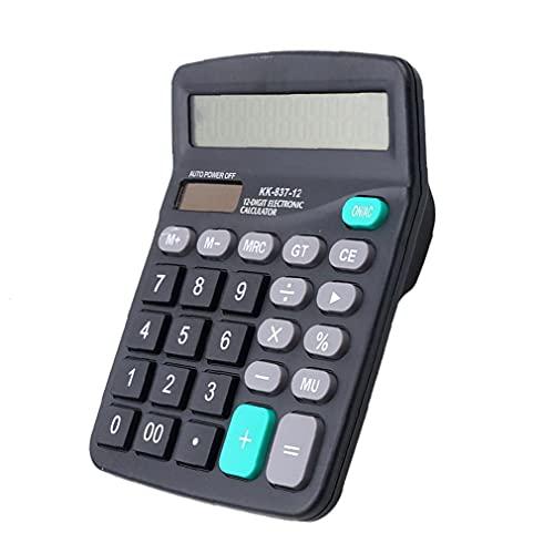 12 Digit Rekenmachine, Jumbo Grote knoppen Solar Desktop Financial Business Accounting Tool Black 1pc Practical bureau-accessoires