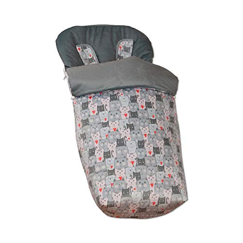 Babyline Lovely Skull unisex Colchoneta para silla ligera color negro