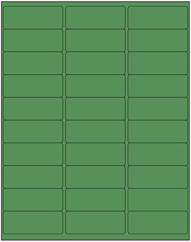 """600 Blank Address Labels 2-5/8"""" X 1"""" Solid Green Color InkJet or Laser Labels 20 Sheets 5160 Size"""