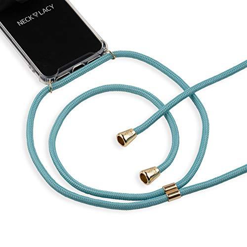 Preisvergleich Produktbild NECKLACY Handykette Handyhülle zum umhängen - für iPhone 7 / 8 - Case / Handyhülle mit Band zum umhängen - Trageband Hals mit Kordel - Smartphone Necklace,  Ocean Spirit