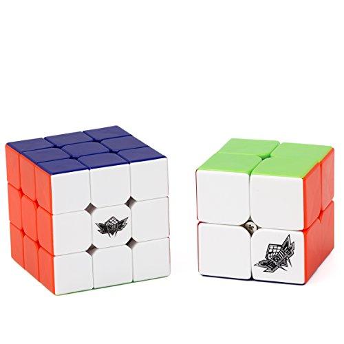 Vdealen Speed Cube Set de Cyclone Boys 2x2 3x3 Cube, Cubo de Velocidad Stickerless, Rompecabezas de Torneado Fácil y Juego Suave Inteligencia para Principiante y Pro
