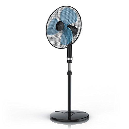 Brandson - Standventilator 40cm - Ventilator höhenverstellbar bis 122 cm - mobiler Lüfter - hoher Luftdurchsatz - 3 Geschwindigkeitsstufen - Oszillationsfunktion 80°