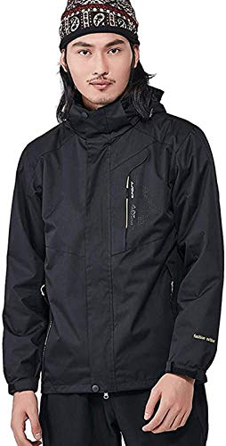 ZHAO Winter Berg Jacke Winddicht Warm Ski Snowboard-Jacke Paar Wear (Color : Black(m), Size : 6XL)