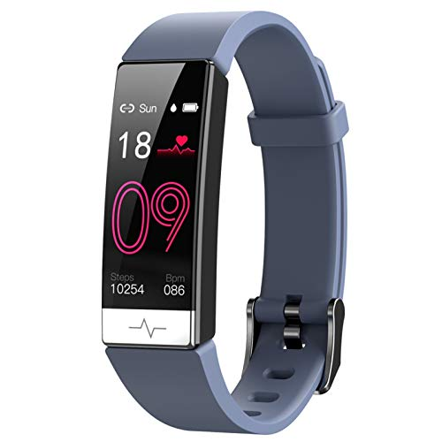 YONGLI Pulsera Inteligente Monitor De Ritmo Cardíaco Sangre Presenta Whatsapp Recordatorio Impermeable IP68 SmartBand para iOS Android Gray