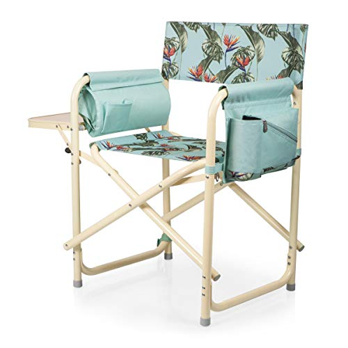 ONIVA - a Picnic Time brand Outdoor Directors Folding Chair, Tropical Foliage