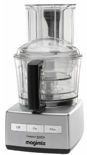 Magimix 18361EA 3200 XL Küchenmaschine, Kunststoff, Chrom