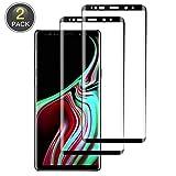 Wiestoung Cristal Templado Samsung Galaxy Note 9, Protector de Pantalla Galaxy Note 9,Vidrio Templado Galaxy Note 9,dureza 9H, Resistentes a los Golpes, Huellas Dactilares Libre (Paquete de 2)