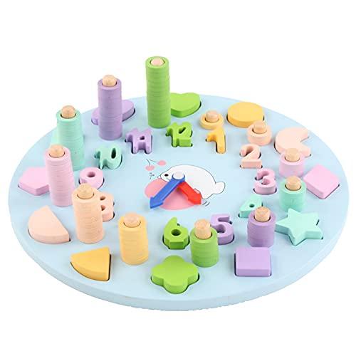 illuMMW Reloj digital de madera, juguete educativo para niños