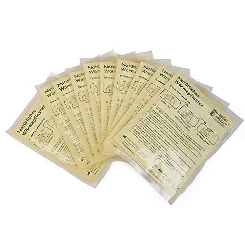 GRÜNSPECHT Naturprodukte 141-K2 natürliches Wärmepflaster, 10 Stück, weiß, 480 g