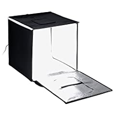 """Comes with Integrated Dimmable LED Lights & Diffusion Panel The studio folds up into a self-contained carrying case Compact and adequate work space 20x20"""" Comes with four choices of backdrops- blue, white, gray and black 24-Month Manufacturer Warrant..."""