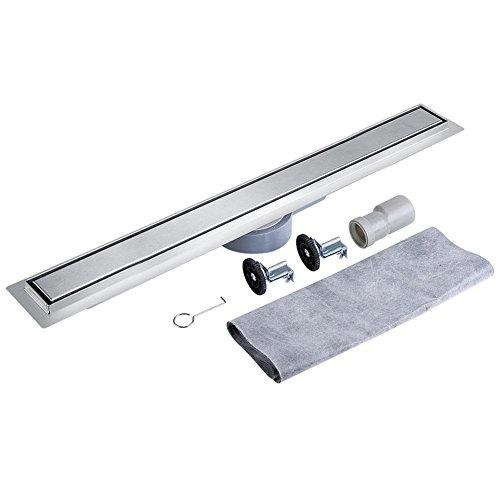 360 Grados Giratorio Acero Inoxidable Lineal Drenaje de La Ducha para Suelo de Baldosas Desagüe de Piso para Cuarto de Baño y Cocina (100cm)