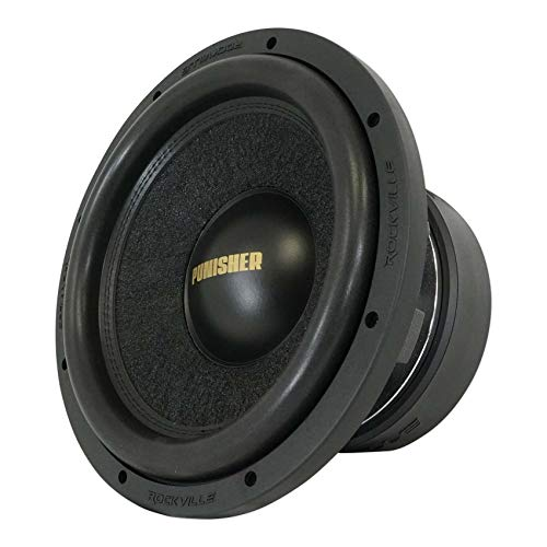 """Rockville Punisher 12D1 12"""" 5600w Peak Car Audio Competition Subwoofer Dual 1-Ohm Sub 1400w RMS CEA Rated"""