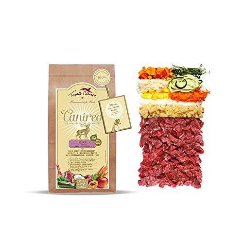 Terra Canis Selvaggina, verdure, frutta e farina di cocco - Canireo cibo secco, 1kg I Alimento premium per cani con ingredienti di autentica qualità human-grade al 100% I 64% di carne fresca