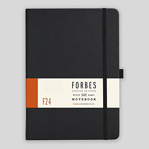 Forbes, taccuino con pagine puntinate, formato A5, stile classico, colore nero opaco A5 Black