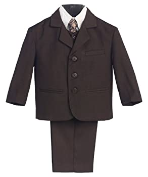 5 Piece Brown Suit with Shirt Vest and Tie - Size XL  18 Month