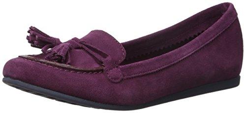 crocs Women's Lina Suede Slip-On Loafer, Plum, 8.5 M US