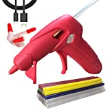Cordless Hot Glue Gun with 30PCS glue sticks, Mini USB Rechargeable Hot Melt Glue Gun Kit with glue sticks for DIY Projects/Arts/Crafts/Quick Home Repairs