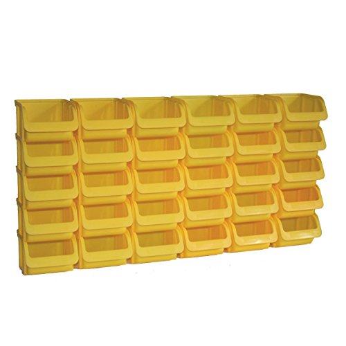 30 Profi Lager-Sichtboxen PP Größe 1 in Farbe Gelb