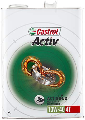 カストロール エンジンオイル Activ 4T 10W-40 4L 二輪車4サイクルエンジン用部分合成油 MA Castrol