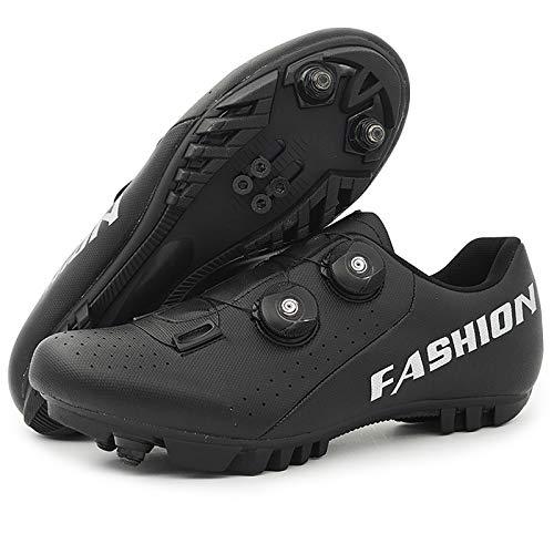 BALALALA Zapatillas de Bicicleta de Montaña,Calzado de Bicicleta, Zapatos de Bicicleta Antideslizantes Transpirables para Hombres para Ciclismo de Carretera y Ciclismo de montaña