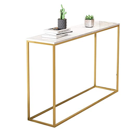 OuPai Entryway Sofa Table Sofa Side Table, Console Table Entryway Hall Table with 4 Sizes, Long Narrow Accent Table for Living Room, against any wall. 80CM/100CM/120CM/140CM for Living Room Bedroom