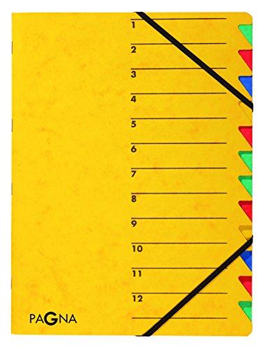 Pagna Ordnungsmappe Easy (Sammelmappe, 12 Fächer, 1-12) gelb