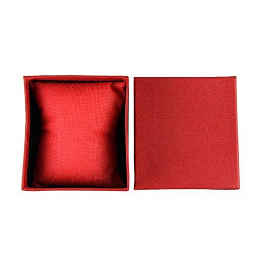 Janly Clearance Sale Caja de joyería para mujer, caja de regalo duradera, caja de regalo para pulsera, joyería, caja de reloj, joyería y relojes para Navidad, día de San Valentín (rojo)