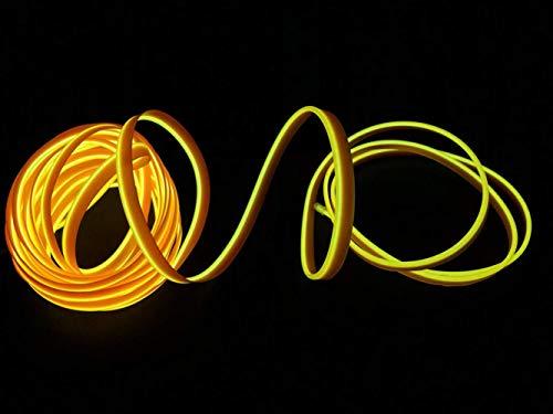 2M / 6FT USB Neon EL Draht Glühender Elektrolumineszenzdraht für Valentine Christmas Festival Party Licht Dekoration(Gelb)
