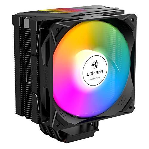 upHere 6 tubos de calor de contacto directo Ventilador para CPU compatibles con Intel y AMD Ventilador de 120 mm LED ARGB PWM Ventilador N1065ARGB