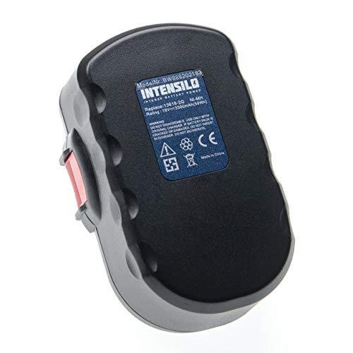 INTENSILO Batería compatible con Bosch GHO 18 V, GKS 18 V, GLI 18 V, GSA 18 VE, GSB 18 VE-2, GSR 18 V herramientas eléctricas (3300mAh NiMH 18V)