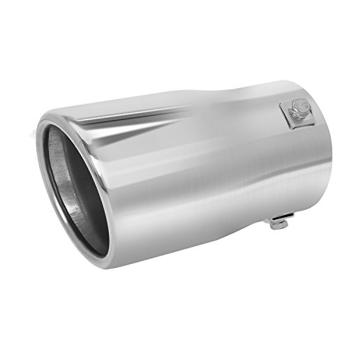 Double Wall Exhaust tip - to Fit 2 to 2.75 Inch Exhaust Tail Pipe Diameter- Stainless Steel to give Chrome Effect - Car Muffler Tips