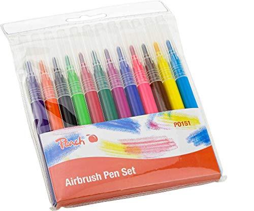 Peach Airbrush Marker Set, PO151 | Nachfüllset für Peach Airbrush | 12 Farben
