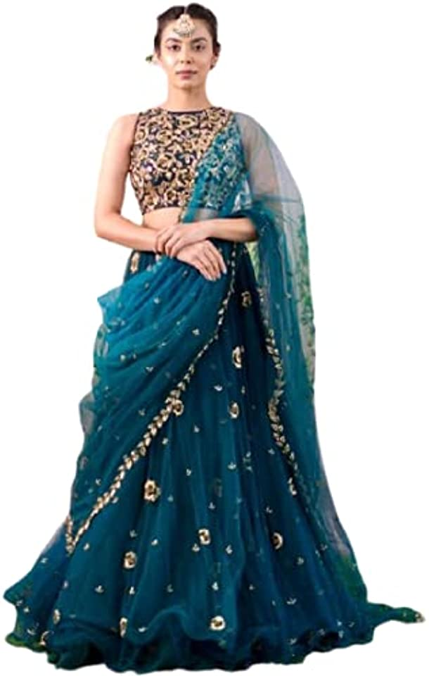 Blue Soft Net Embroidered Lehenga Choli Party Wear Lehenga Choli Indian Lehenga Choli Designer Lehenga Choli Bollywood lahanga choli